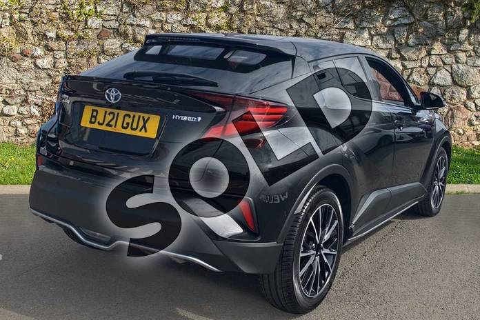 Image two of this 2021 Toyota C-HR Hatchback 1.8 Hybrid Excel 5dr CVT in Black at Listers Toyota Coventry