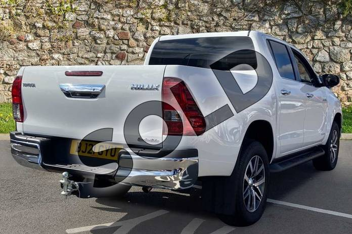 Image two of this 2021 Toyota Hilux Diesel Invincible D/Cab Pick Up 2.4 D-4D Auto in White at Listers Toyota Coventry