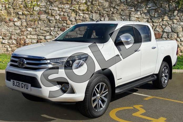 Image three of this 2021 Toyota Hilux Diesel Invincible D/Cab Pick Up 2.4 D-4D Auto in White at Listers Toyota Coventry